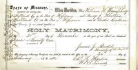 William Humphrey and Nancy Whitson marriage certificate