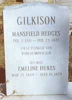 mansfield hedges gilkison headstone